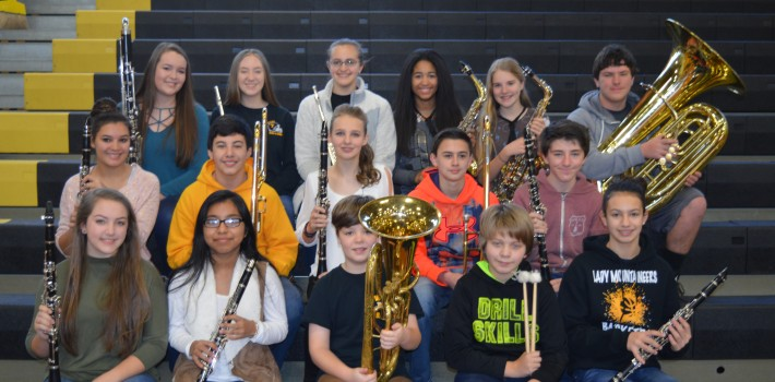 WMS Band Well Represented in District Honors Band
