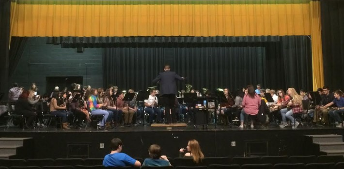 Tuscola And Waynesville Band Students Join Together In Inaugural Event